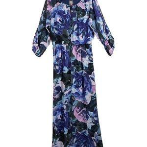 Vince Camuto Maxi Long Floral Plus Dress 16 New